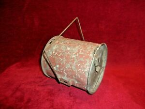 Vintage Galvanized Metal, Fishing Worms Bait Container