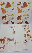 Dog Puppy  Stickers 1990s lot sheets Current 1991 Used Sheepdog Dachshund