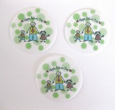 12 PRE CUT EDIBLE RICE WAFER PAPER CARD HAPPY FATHERS DAY CAKE CUPCAKE TOPPERS