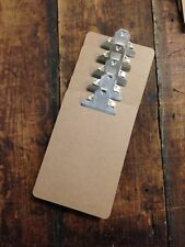5 x Quality Wooden A5 Clipboard -Sturdy Hardboard With Extra Strong Chrome Clip