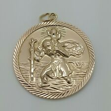 9ct Yellow Gold Double Sided Saint Christopher Pendant