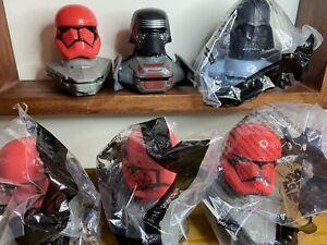 lot 6 McDonalds Happy Meal Disney Star Wars Darth Vader Kylo Ren Stormtroopers