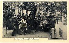 Im Garten eines Seemannsheims in Antwerpen Schachspiel Kegeln von 1908