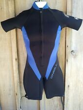 O'Neill Girl's Size 10 Shorty Wet Suit Reactor 2/1 MM Style #7498 Black & Blue