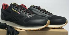 Reebok Mens Size 10 Classic Leather LJ Black Primal Red Gold Sneakers CN2276