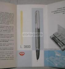 SCRITTURA_CALLIGRAFIA_PENNE_DUO CART_VECCHIO DEPLIANT PUBBLICITARIO_INCHIOSTRO
