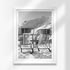 More details for a3 white framed prints - bw - st anton am arlberg austria 42x29.7cm #38103