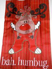"""Christmas Garden Flag  BAH.HUMBUG  12.5"""" x 18"""""""