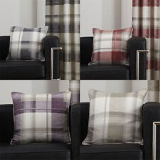 Fusion Balmoral Check 100% Cotton Cushion Cover, 43 x 43 Cm