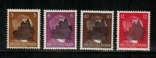 GERMANY (SCHWARZENBERG) 1945 POST WWII-LOCAL ISSUE Mi #2,5,7,8 BLK OVPT MLH