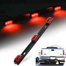 SUV 9LED Red Clearance ID Light Bar Tail Lamp Waterproof Sealed Stainless Steel