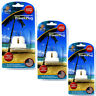 3 x Sure Travel 3 Pin UK Plug to US/ASIA Adaptor Appliance Convertor Triple Pack