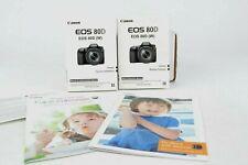 Canon EOS 80D Factory Bundle Flash Booklet Macro Booklet E/S  BNC (419)