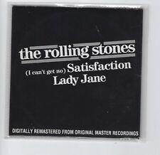 "ROLLING STONES ""Satisfaction / Lady Jane"" Rare Belgium Promo CD Cardsleeve"