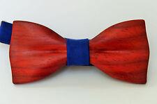 Cravate en bois pour homme, cravate classique en bois rouge à la main, bowtie...