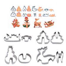 8tlg. 3D Ausstecher Ausstechform Keksausstecher Weihnachten Tortendeko Fondant