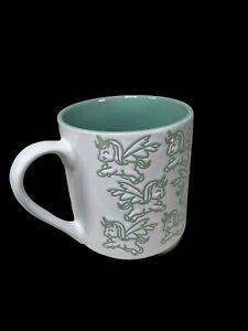 Momentum Unicorn Coffee Mug Tea Cup Green White Cute!