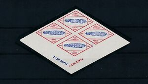 FT FINDLAY OHIO LOCAL POST; ZEPPELIN COMMEM BLK 4 MNH ROULETTED *HARD TO FIND