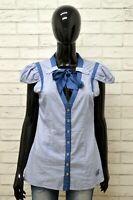 Camicia SILVIAN HEACH Donna Taglia S Maglia Shirt Blusa Woman Manica Corta Seta