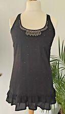 Internacionale black embellished party top, size 10