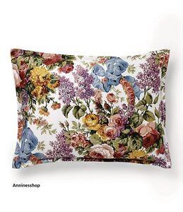 Ralph Lauren Allison Floral Sateen Boudoir Pillow cotton Decorative Archival New