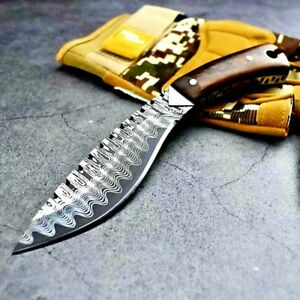 Mini Kukri Fixed Blade Hunting Tactical Survival Tactical DC53 Steel Wood Handle