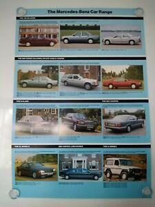 Mercedes-Benz Car Range & R129 SL (on rear) 42x60cm Poster Brochure Related 1990