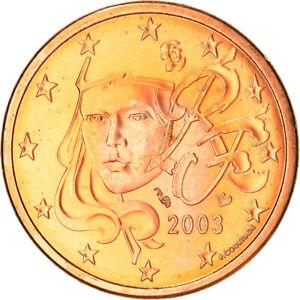 [#382346] France, 5 Euro Cent, 2003, Paris, SUP+, Copper Plated Steel, Gadoury:3
