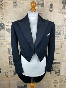 Vintage bespoke 1930's Savile Row white tie evening tails tailcoat size 38