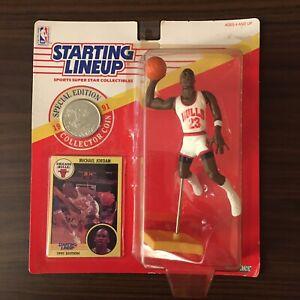1991 Vtg Dunking Michael Jordan Starting Lineup SLU Basketball NBA Card Bulls