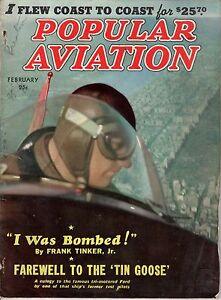1939 Popular Aviation February-Tin Goose Ford Tri-Motor; Hawker Henley; Rockwell