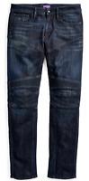 $695 Ralph Lauren Purple Label Slim Skinny Piston Moto Stretch Denim Jeans Pants