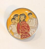 "CULTURE CLUB Vintage 80s Pinback Lapel Pin 1"" wide * Combine Shipping!"