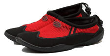 TruFit Women's Swimshoes Paneled Mesh Upper & Rubber Sole Red/Black Size 7