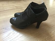 chaussures boots femme marithe francois girbaud cuir noire 38