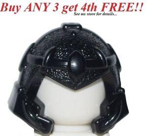 ☀️NEW Lego City Minifig Hat Black Warrior Battle Knights Helmet Gaurd