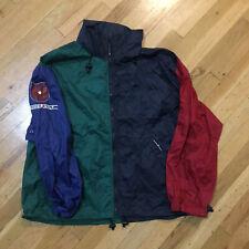 Chaps Ralph Lauren Golf XL Hooded Blue Green Red Wind Breaker Rain Jacket