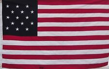 STAR SPANGLED BANNER FLAG - HEAVY DUTY COTTON 1812 WAR - USA HISTORICAL PATRIOT