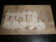 Old postcard village cricket team c1900s