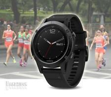 GARMIN Fenix 5S Watch Sapphire Black Band GPS HRM Sports Run ning Triathlon Golf