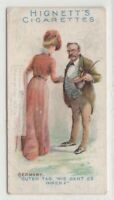 Native German Man And Woman Greeting Clothing Fashions 100+ Y/O Trade Ad Card