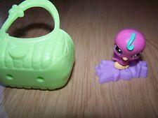 Littlest Pet Shop LPS Pink Bird in Green Basket McDonalds Toy Figure 2010 Hasbro