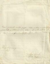 Lettera Autografo Pietro Dazzi Fondatore Scuole Formazione Popolo Firenze 1877