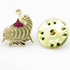 Gilt Metal and Enamel Cornicopia Horn of Plenty Lapel Pin (or Badge)