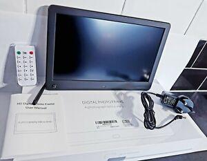 "12"" MELCAM Digital Photo Frame 1920x1080 High Resolution Full HD IPS Display New"