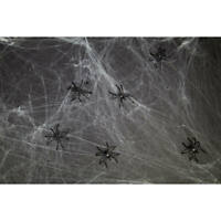 Toile d'araignée décoration Halloween 20g cobweb fête accessoire ambiance spider