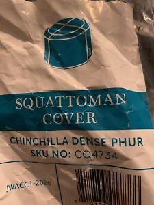 Lovesac Squattoman Chinchilla Dense Phur Cover Gray Super Soft SKU C04734