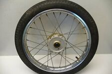 #4112 Yamaha QT50 QT 50 Yamahopper Chrome Front Wheel & Tire