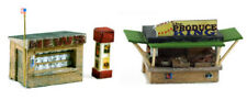Model Tech Studios JN1054 N Detail Newspaper and Produce Roadside Stand Set