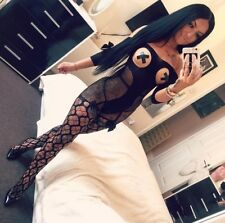 BLACK Body Stocking Lace Bodysuit Tights Catsuit Sexy Lingerie Fishnet #tia8969